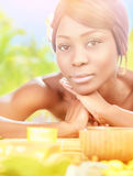 African female in spa Royalty Free Stock Photos
