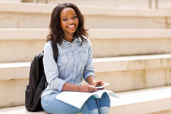 African female student Royalty Free Stock Photos