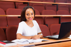 African female university student. Attractive african female university student looking at the camera Royalty Free Stock Images