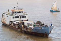 African ferry Mpfumu Stock Photo
