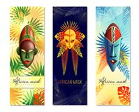 African Festive Vertical Banners vector illustration