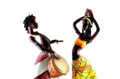 African figures dancing Royalty Free Stock Images
