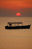 African fisherman boat Stock Photography