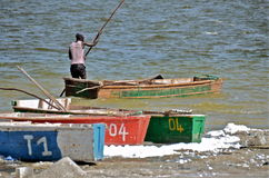 African fisherman Stock Images