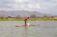 African fisherman Stock Photos