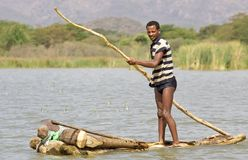 African fisherman Royalty Free Stock Photography