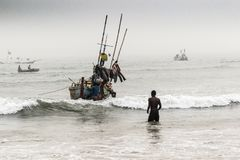 African fishermen Royalty Free Stock Photo