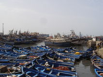 African fishing port. Colourful North African fishing village Royalty Free Stock Photos