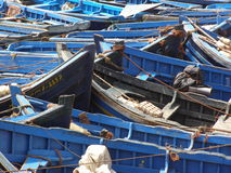 African fishing port. Colourful North African fishing village Stock Images