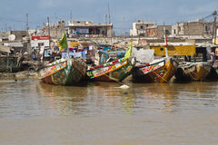 African fishing vessel Stock Images
