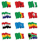 African flags Stock Image