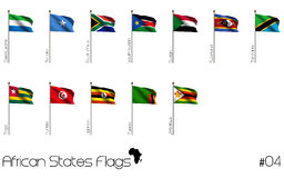 African flags Stock Images