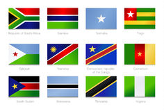 African Flags. Collection part 2 Stock Images
