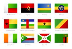 African Flags. Collection part 3 Stock Photo