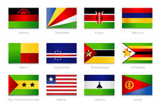 African Flags. Collection part 4 Stock Images