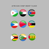 African flags Stock Photography