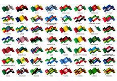 African flags. Set of all african flags on white background Royalty Free Stock Images
