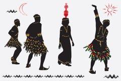 African folk dance. Royalty Free Stock Photos