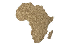 African food. A map of Africa for food Stock Photography