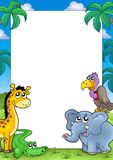 African frame with animals 1 Royalty Free Stock Photo
