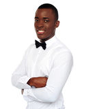 African gentleman posing with crossed arms Stock Image