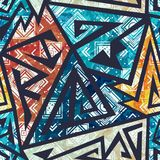 African geometric seamless pattern. Eps 10 vector file Royalty Free Stock Photo