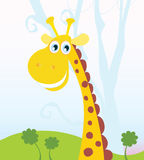 African Giraffe. Vector Illustration of funny animal. See similar pictures in my portfolio Stock Photography