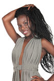 African girl. Young african girl with  braids and a grey top Stock Photography