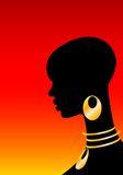 The African girl. On a red background Royalty Free Illustration