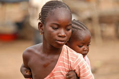 African girl with baby Stock Image