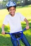 African girl bike Stock Images