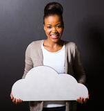 African girl cloud Royalty Free Stock Photo