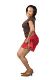 African girl dancing Stock Image