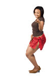 African girl dancing Royalty Free Stock Photo