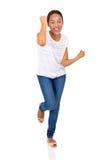African girl dancing Stock Photos