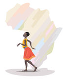African girl dancing Royalty Free Stock Images