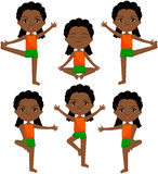 African girl with dreadlocks doin morning work-out royalty free illustration