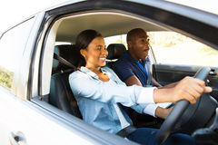 African girl driving Stock Images