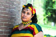 African girl with Ethiopian costume Royalty Free Stock Photos