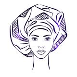 African girl face Royalty Free Stock Image
