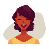 African girl face, laughing facial expression Stock Photo