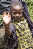 African girl greeting at the camera Stock Photos