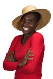 African girl with hat Stock Photos