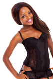 African girl in lingerie Royalty Free Stock Photos