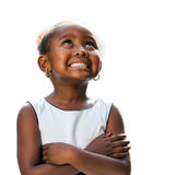 African girl looking up. Royalty Free Stock Image