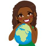 African Girl Loving Earth Royalty Free Stock Photography