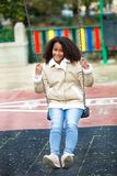 African girl in a park Stock Image