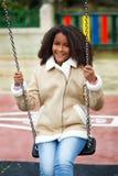 African girl in a park Stock Photos