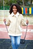 African girl in a park Royalty Free Stock Photos