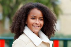 African girl in a park Stock Photo